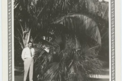 Donald Rodkey Posing by Palm Tree