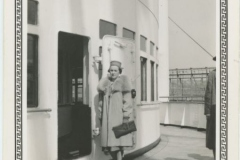 Clara Rodkey Posing on Ship, 1937