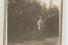 Donald Rodkey Posing by Palm Trees