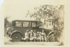 Young Rodkey Children in front of Car