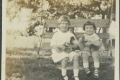 Eloise and Anna Mary on a Bench