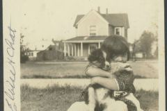 Eloise Rodkey and Her Dog, Chat