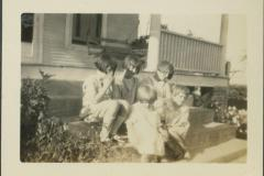 Five Kids on the Front Porch