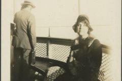 Emma Rodkey Sitting on Bench