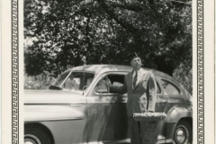 Donald Rodkey in Front of Car
