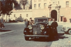 Donald and Clara Rodkey Beside Car