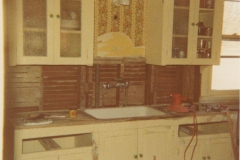 Kitchen Remodel at Rodkey House, 1978