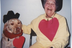 Eloise Rodkey and Dog on Valentine's Day